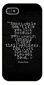 For SamSung Note 2 Case Cover ome people don't like you just because your strength reminds them of their weaknes. Thema Davis - Black plastic case / Inspirational and motivational life quotes / AUTHENTIC