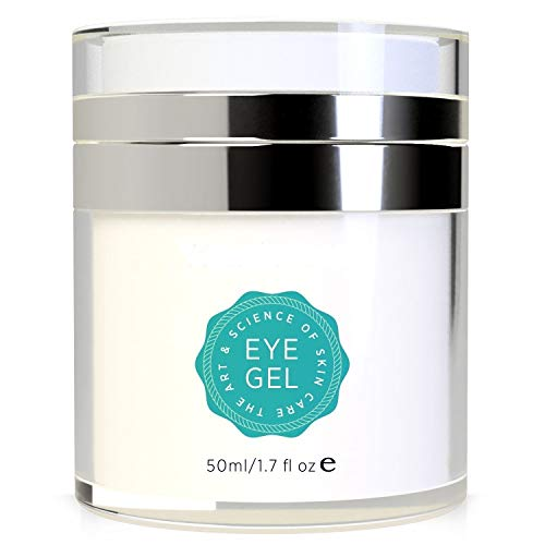 (Tetyana naturals Eye Gel for Dark Circles, Puffiness, Wrinkles and Bags,Fine Lines. - The Most Effective Anti-Aging Eye Gel Under and around Eyes- 1.7 fl OZ)