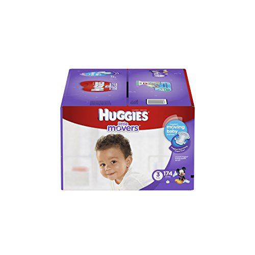 Huggies Little Movers Diapers Step 3, Economy Plus, 174 Count