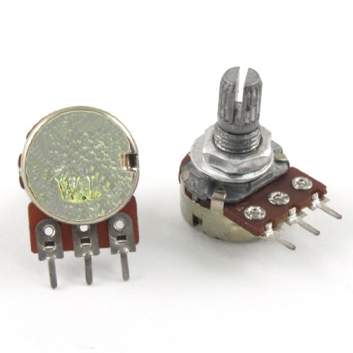 Uxcell a12022200ux0326 1M Ohm Single Linear Taper 3 Pins Rotary Potentiometers Pots, 5 Piece ()