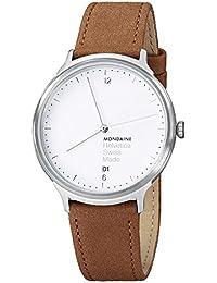 Unisex MH1.L2210.LG Helvetica Analog Display Swiss Quartz Brown Watch