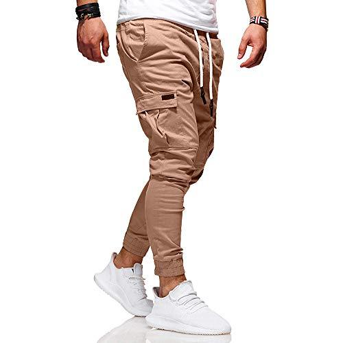 Jogging De Caleçons Slim Chino Longs Pantalons Multi Homme Kaki Sport Poche Tonsi wC8f5Wq1
