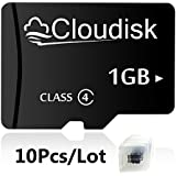 Cloudisk 10Pack 1GB Micro SD Card 1G Memory Card Class4 Wholesale