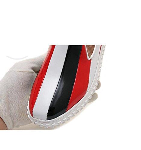 de Redonda los Contraste de la Casuales Planos del Vaca ZFNYY Cabeza de Zapatos Zapatos la del Cómodos Fondo Color Carne Uq5wW8d