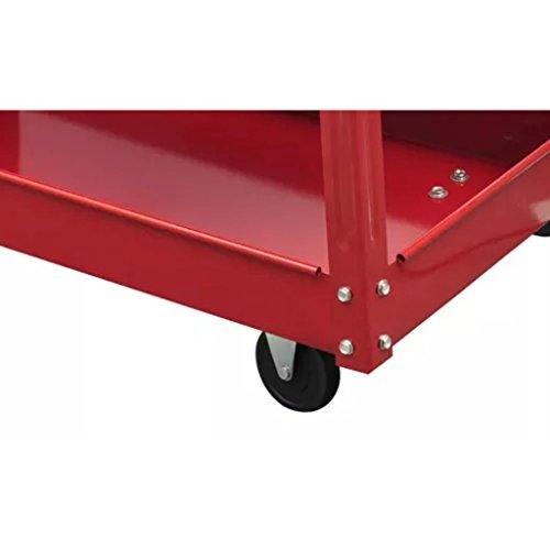 vidaXL 2X Rolling 3 Tray Utility Cart Dolly 220lbs Storage Shelves Workshop Garage Tool by vidaXL (Image #4)