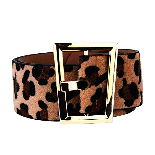 Corset Designer - Women Wide Leather Leopard Belts Pop Shopping Leo C obraSkinny Ladies Waist G Corset Designer Pin Buckle PU Suede Belt (Grey)