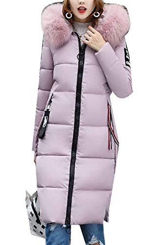 Vintage Fashion Cappotto Semplice Glamorous Pulver Con Elegante Autunno Calda Donna Fit Imbottitura Trapuntato Slim Libero Invernali Outerwear Lunga Giacca Tempo Manica Piumino Cappuccio O8fqwSR