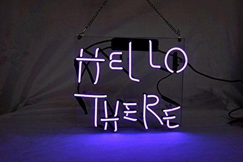 Hello There New Neon Light Sign Cool LED Lamp Night Light...