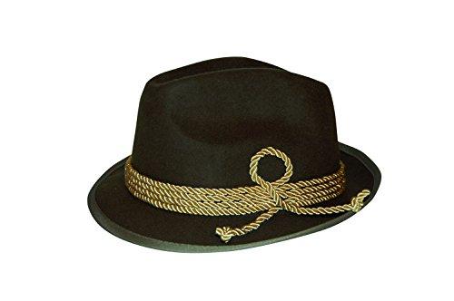 Eleganter Trachtenhut mit goldener Kordel und breiter Krempe. Stillvoll für den Herren zur Tracht