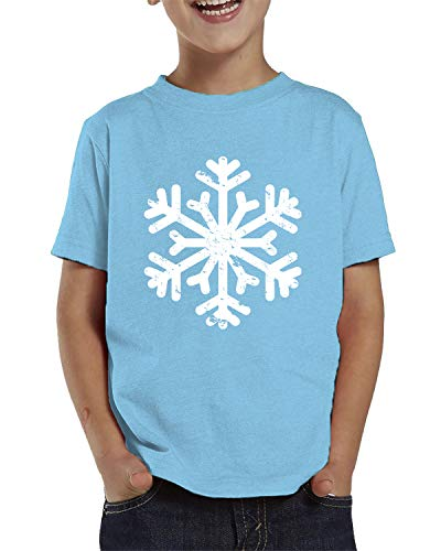 Snowflake Frosty Ornament - SpiritForged Apparel Vintage Snowflake Toddler T-Shirt, Light Blue 4T