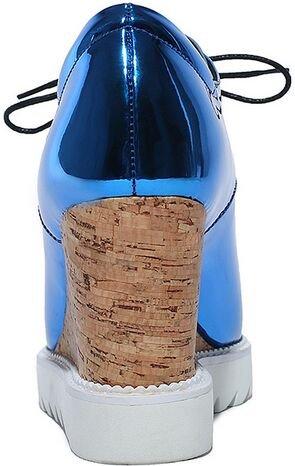 Laruise Women's Wedge Shoes Blue N6DyTxSU