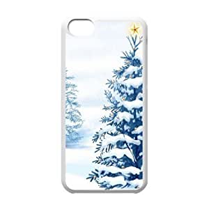 Christmas Tree with Star iPhone 5c Cell Phone Case White DIY GIFT pp001_8994139