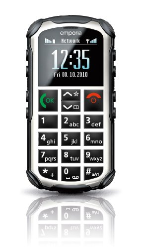 EMPORIA SOLID PLUS V33i - Rugged Senior Elderly BIG Button Unlocked GSM Cell Phone, SOS Button, Hearing Aid Compatible , Flashlight , Easy operation ( Dust, Water, Thermal Shock, Vibration RESISTANT ) - Hearing Aid Compatible