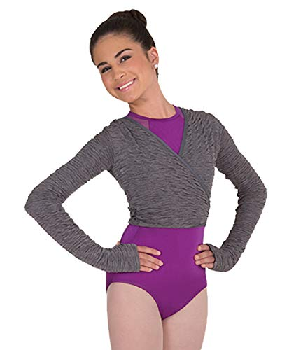Body Wrappers Womens Wrap Front Sweater (P405) -TXTRD CHRC -S