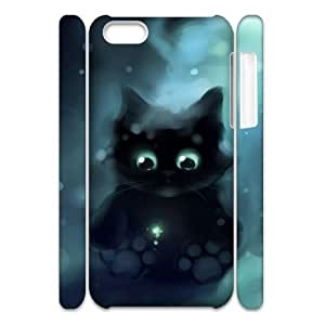 Cell phone 3D Bumper Plastic Case Of Lovely Cat For iPhone 5C