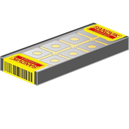 1130 Grade Wiper AlTiCrN Pack of 10 Zertivo Technology Right Hand Cut Sandvik Coromant R331.1A-14 50 15H-WL1130 Coro Mill 331 Insert for Slotting Carbide