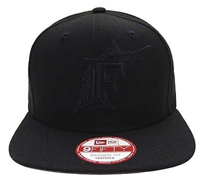 Miami Marlins New Era Graphite Snapback Cap Hat Black