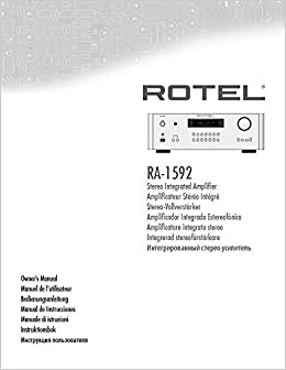 Rotel RA-1592 Amplifier Owners Instruction Manual Reprint: Amazon.com: Books