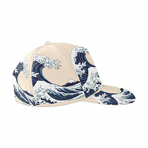 INTERESTPRINT Wave Japanese Motif Japan of Japan All Over Print Snapback Hat