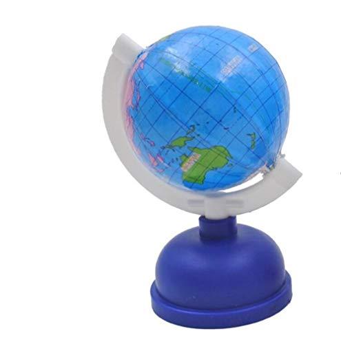Desktop 1Pc Globe Shape Single Hole Pencil Sharpener School Stationery(Blue)