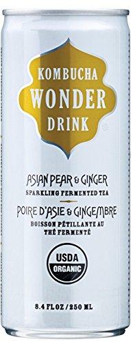 Kombucha Wonder Drink, Asian Pear and Ginger Sparkling Fermented Tea