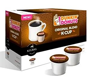 Dunkin Donuts Blend K-Cup portion 1 Box, 14 Single use K-Cups - Original Blend