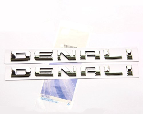 - Yoaoo® 2pcs Original Chrome Denali Nameplate Emblems Hd Badges for Gm 07-16 Yukon Sierra Terrain