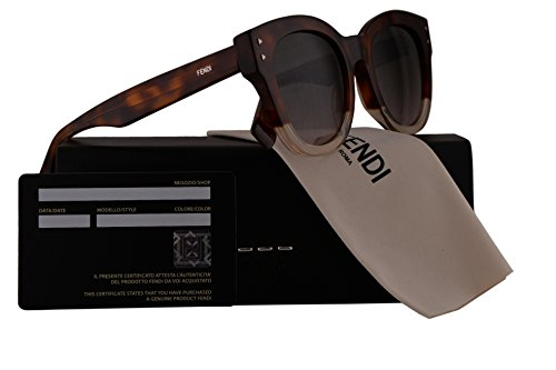 Fendi FF0239/S Sunglasses Dark Havana w/Brown Pink Gradient 50mm Lens 0T4M2 FF0239S FF 0239S FF - Sale Sunglasses Fendi