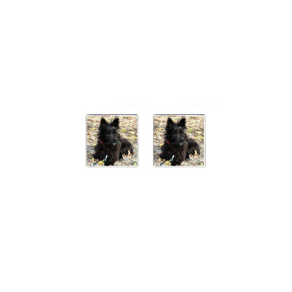 Scottish Terrier Puppy Dog 2 Square Cufflinks F0763