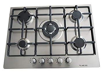 Larel - Placa de cocina empotrable con 5 fuegos de 70 cm a ...