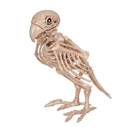 MXD Halloween Decorations Simulation Animal Skeleton Parrot Skeleton Bar Movies Haunted House Props -