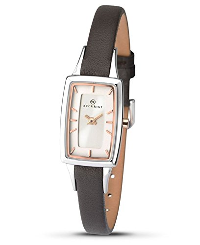 Accurist Ladies Leather Strap Watch 8075