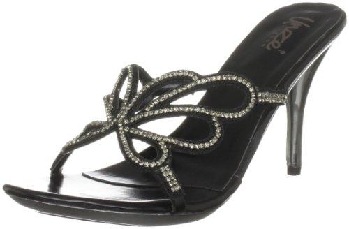 Unze Sandales Du Soir Des Femmes Tongs L18479w Noir