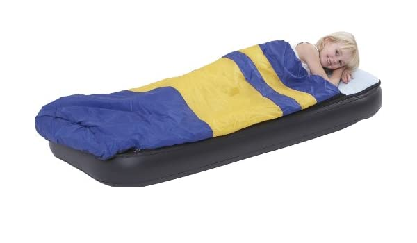 Kid S Combo Comfort Sleeping Bag And Inflatable Airbed Mattress