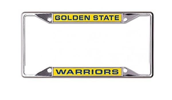 WinCraft Golden State Warriors L340884 Inlaid Metal LIC Plate Frame
