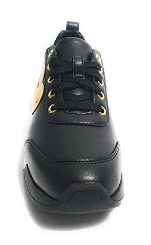 Love Moschino - Zapatillas de Deporte de Piel Lisa Mujer negro