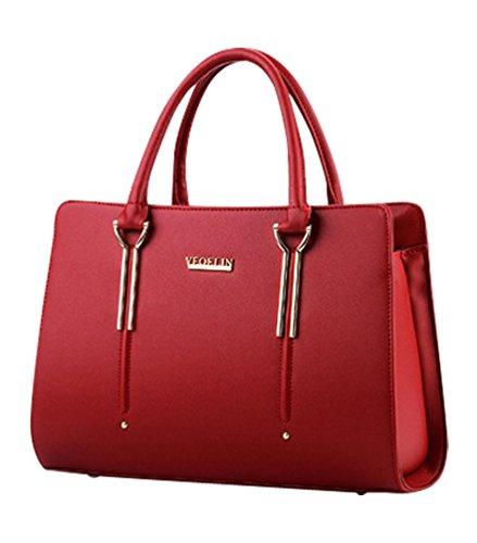 À Classique Conception Fourre Rouge Sac Zipper Main Vin En Fashion MissFox Tout txOdqwYw