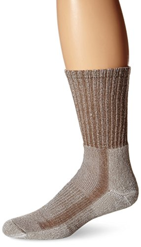 3 Walnut Engineered - Thorlos Unisex LTH Light Hiking Thick Padded Crew Sock, Walnut (3 Pack), Large