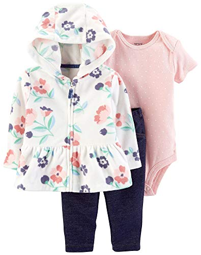 - Carter's Baby Girls' Cardigan Sets (Pink Dot/Floral, 6 Months)
