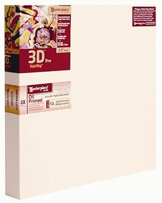 """Masterpiece Artist Canvas 46133 3D PRO 2-1/2"""" Deep, 18"""" x 29"""", Linen13.0oz - 3X - Vintage Oil Primed"""