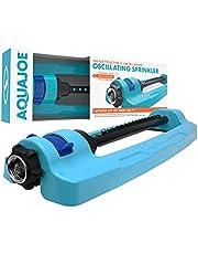 Aqua Joe SJI-OMS16 Indestructible Metal Base Oscillating Sprinkler with Adjustable Spray
