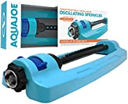 Aqua Joe SJI-OMS16 Indestructible Metal Base Oscillating Sprinkler w/Adjustable Spray, Turbo-Drive Motor, 16 C