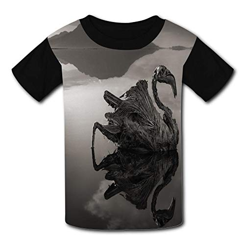 Skeleton Swan Child Short Sleeve Fashion T-Shirt Of Boys And Girls Xl ()
