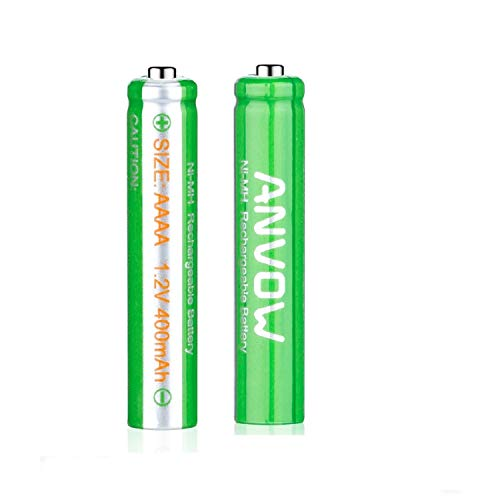 Aaa 2 Batteries Alkaline (AAAA Batteries, ANVOW Rechargeable AAAA Batteries for Surface Pen, Rechargeable AAAA Battery for Active Stylus, Ni-MH 1.2V 400mAh with Storage Box (2-Pack))