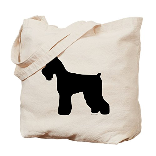 CafePress - Silhouette #4 - Natural Canvas Tote Bag, Cloth Shopping Bag (Tote Pets Bag Silhouette)