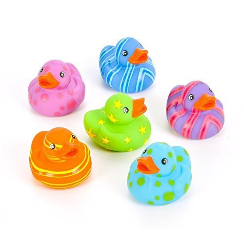 Rin 24 Colorful Pattern Rubber Ducky Party Favors by RIN