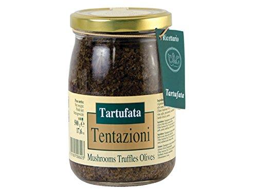 Tentazioni Tartufata Mushrooms Truffles Olives 17.6 oz jar by Tentazioni