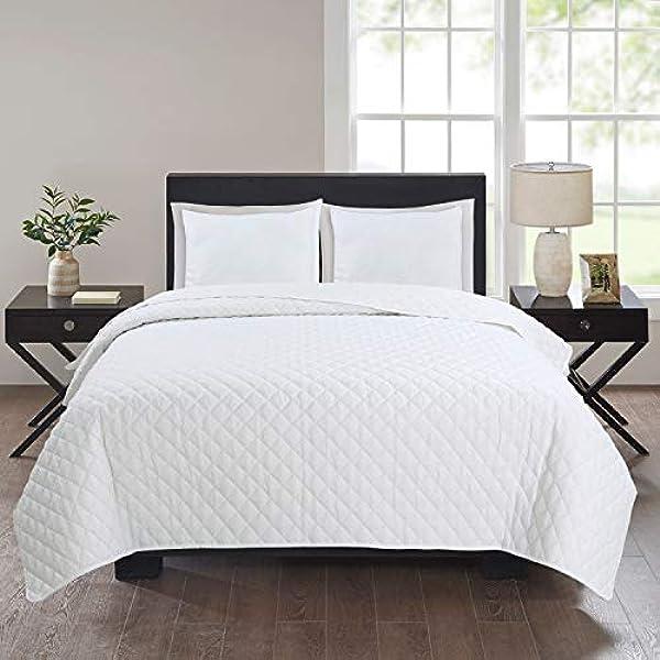 Colcha bouti blanco (235 x 255) para cama de 135 cm + 2 ...