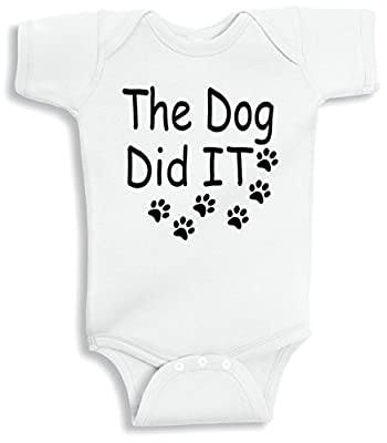Lil Shirts The Dog Did It Baby Bodysuit