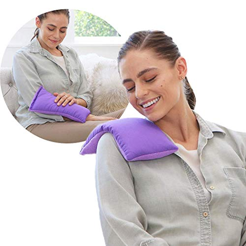 My Heating Pad Microwavable Hot Therapy Pack | Perfect Hot and Cold Herbal Aromatherapy Pack for Neck and Shoulders, Cramps, and Headaches Relief - Lavender Purple